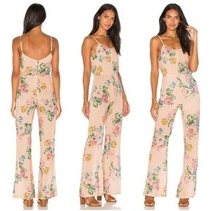 New Auguste Pintuck Jumpsuit Blush Delilah Bloom S